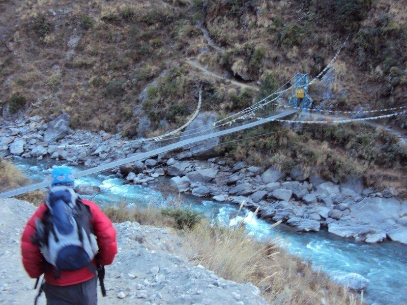 ランタン谷の吊り橋