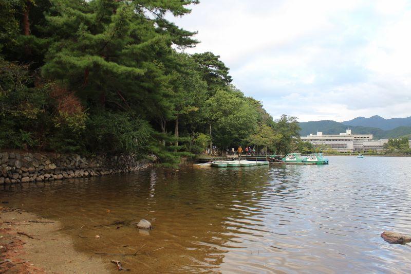 宝ヶ池ボート乗り場