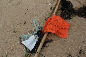 琴引浜 謎の旗