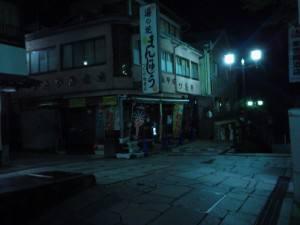 夜の伊香保温泉石段