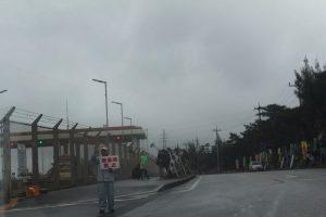 辺野古基地反対のデモ