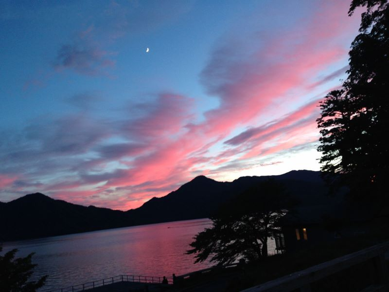 中禅寺湖 夕暮れ