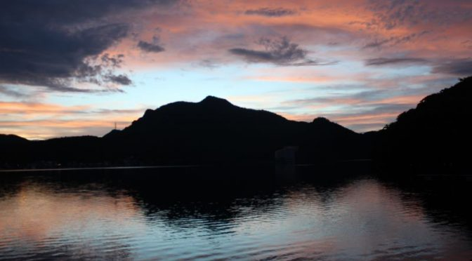 榛名湖 夕暮れ