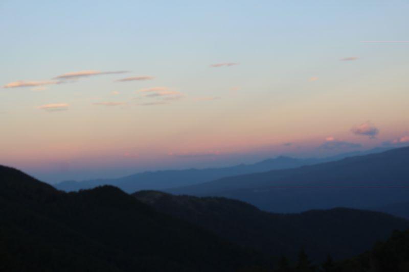 美ヶ原の夕焼け