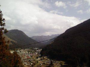 吊橋から観る天川村