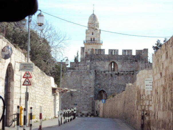 イスラエル エルサレムの旧市街にて