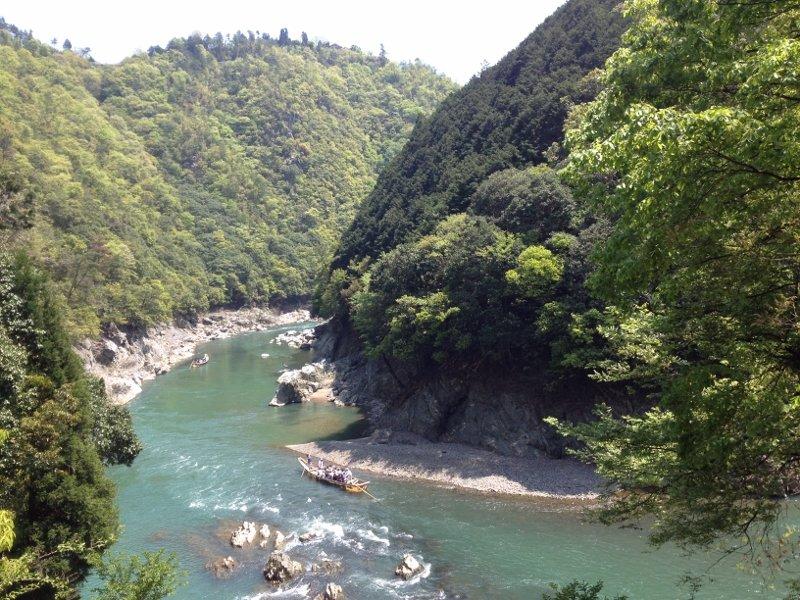保津峡の保津川下り(六丁峠を越えた所)