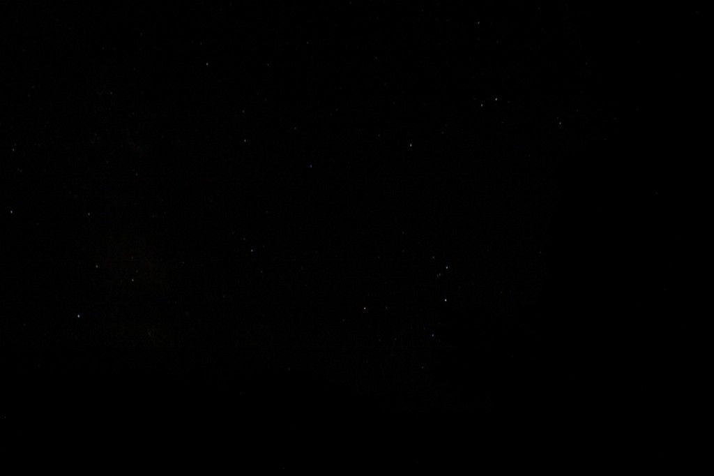 長野の山奥の夜空
