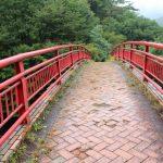 碓氷湖の赤い橋