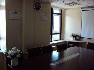 中国のオフィスの会議室