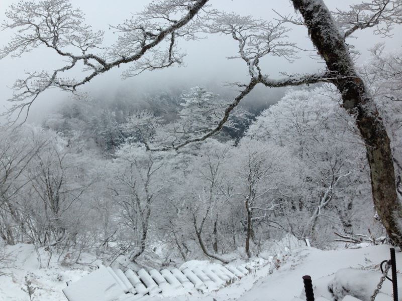 大峯山の階段