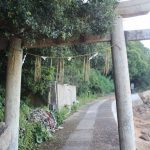 真鍋島 天神への鳥居