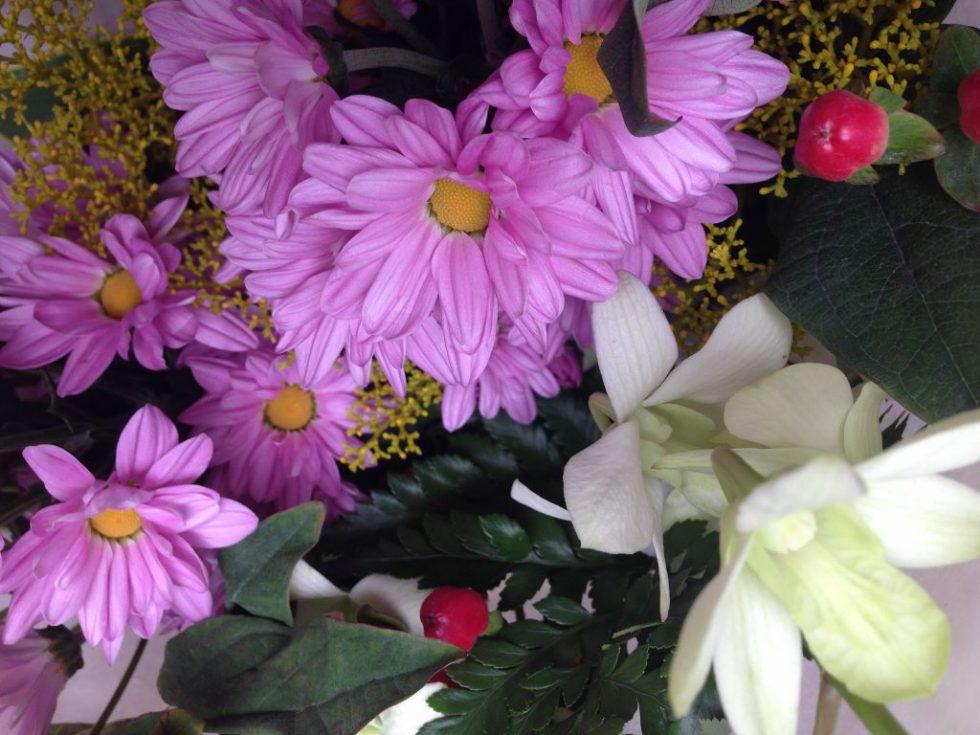 墓参りと花々