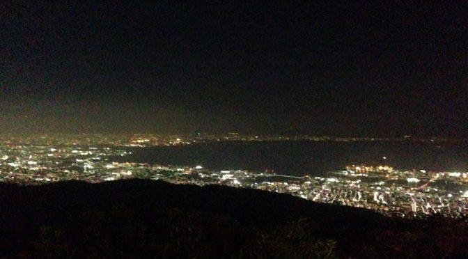 六甲山から望む神戸の夜景