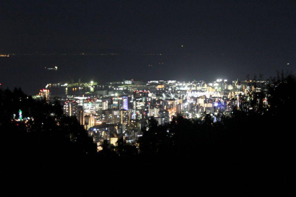 再度山から見る神戸の夜景