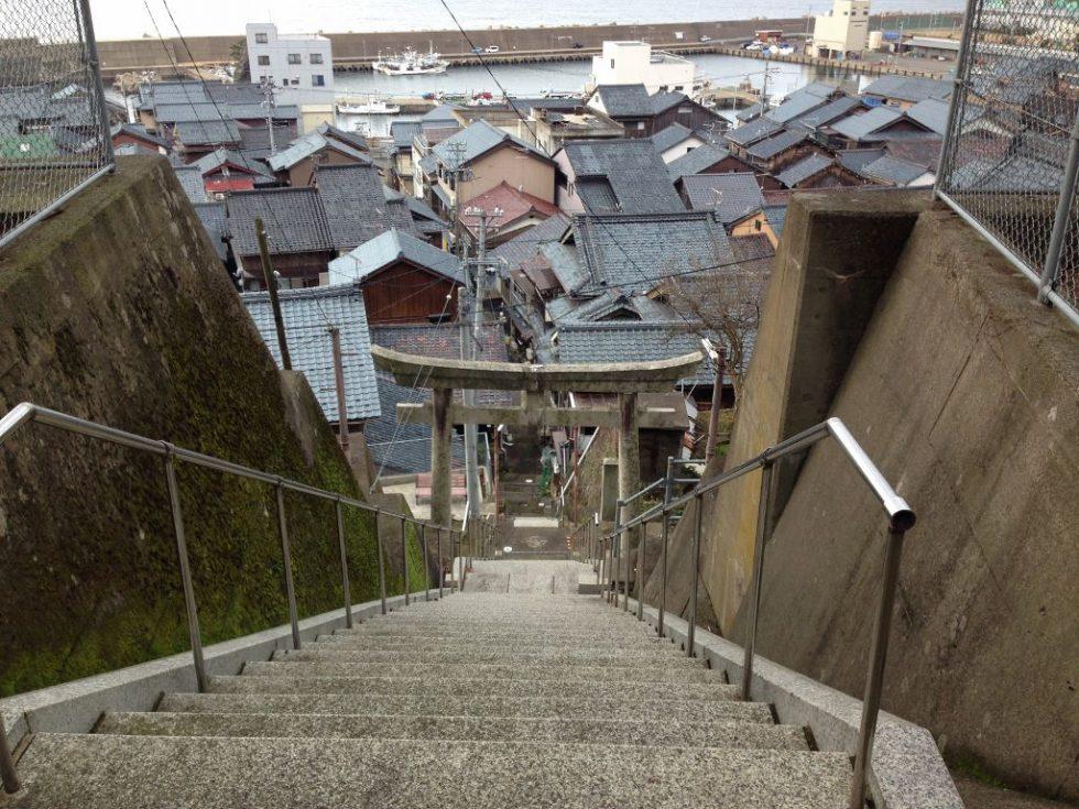 越前町 宿(しゅく)氣比神社 石段