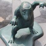 水虎 妖怪ブロンズ像