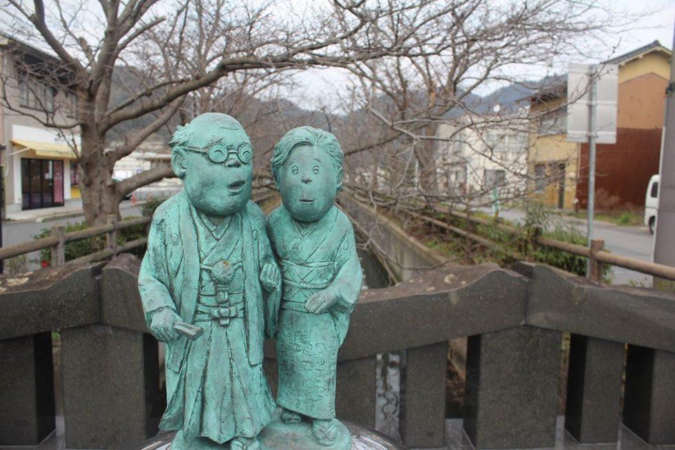 水木夫妻 ブロンズ像