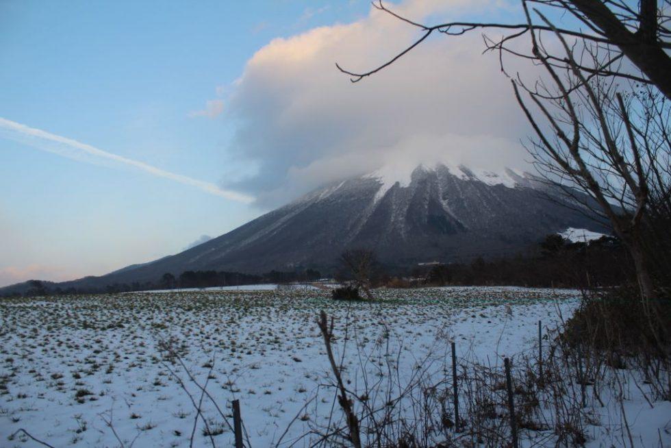 雪化粧した大山