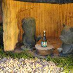カッパとタヌキ ブロンズ像