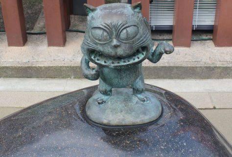 猫又 妖怪ブロンズ像