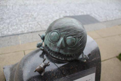 大かむろ(おおかむろ)妖怪ブロンズ像