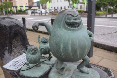 だるま 妖怪ブロンズ像