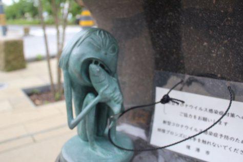 エンコウ(猿猴)妖怪ブロンズ像