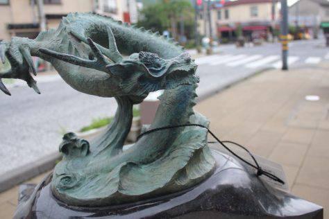 龍(りゅう)妖怪ブロンズ像