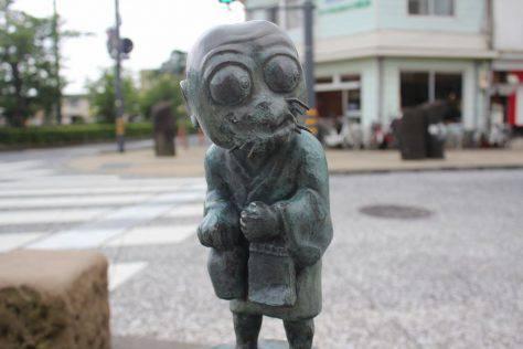 川猿(かわざる)妖怪ブロンズ像