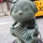 算盤小僧(そろばんこぞう)妖怪ブロンズ像