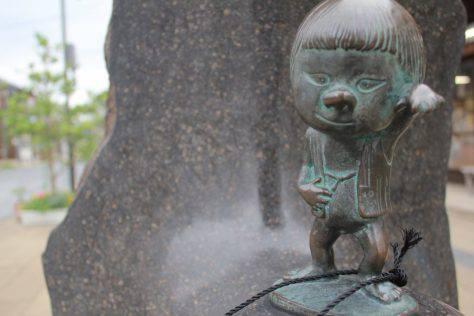 座敷童子(ざしきわらし)妖怪ブロンズ像