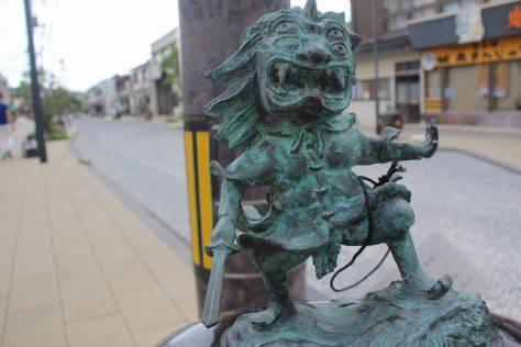 方相氏(ほうそうし)妖怪ブロンズ像