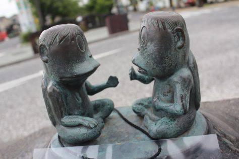 河童(かっぱ)妖怪ブロンズ像
