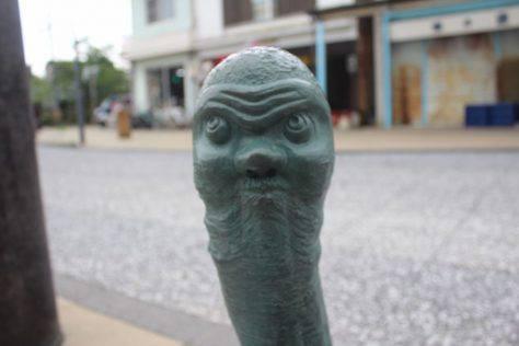 土用坊主(どようぼうず)妖怪ブロンズ像
