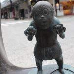 山𤢖(やまわろ)妖怪ブロンズ像