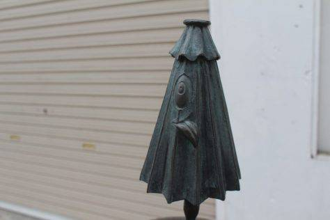 傘化け(かさばけ)妖怪ブロンズ像