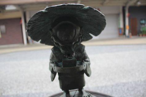 一つ目小僧(ひとつめこぞう)妖怪ブロンズ像