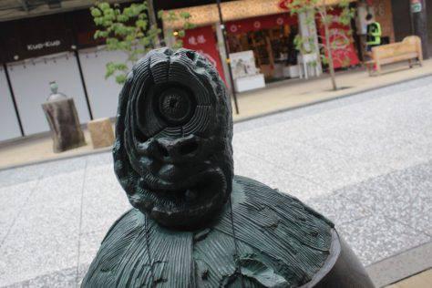 山爺(やまじじい)妖怪ブロンズ像