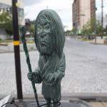 貧乏神(びんぼうがみ)妖怪ブロンズ像