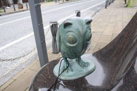 姑獲鳥(うぶめ)妖怪ブロンズ像