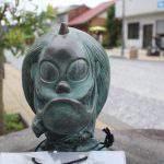朱の盆(しゅのぼん)妖怪ブロンズ像