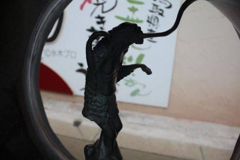 天井なめ(てんじょうなめ)妖怪ブロンズ像