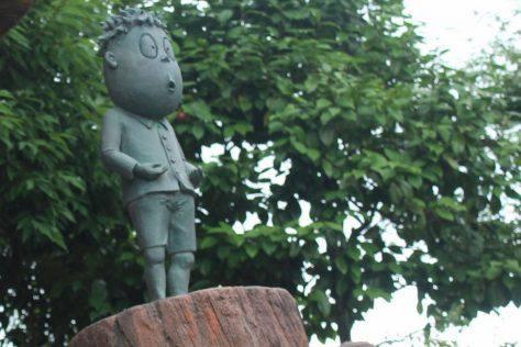 河原三平(河童の三平)ブロンズ像