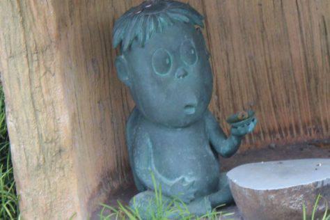 カッパ(カン平)妖怪ブロンズ像