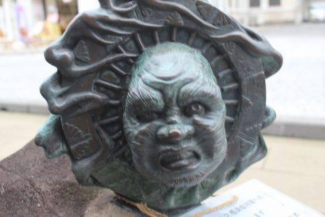 輪入道(わにゅうどう)妖怪ブロンズ像